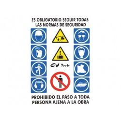 Cartel de obra Las Normas...
