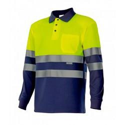 Camisa polo bicolor