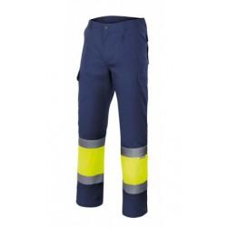 Pantalón bicolor forrado 156